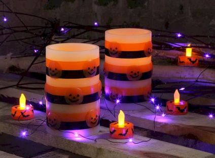Mystical Halloween Lighting Ideas with Spellbinding candle and light string effect Part 34