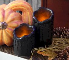 Mystical Halloween Lighting Ideas with Spellbinding candle and light string effect Part 44