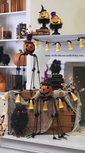 Mystical Halloween Lighting Ideas with Spellbinding candle and light string effect Part 5