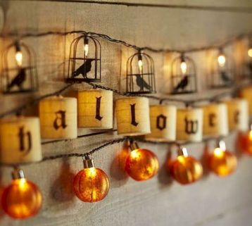 Mystical Halloween Lighting Ideas with Spellbinding candle and light string effect Part 60