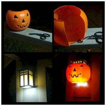 Mystical Halloween Lighting Ideas with Spellbinding candle and light string effect Part 62