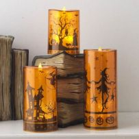 Mystical Halloween Lighting Ideas with Spellbinding candle and light string effect Part 66