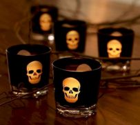 Mystical Halloween Lighting Ideas with Spellbinding candle and light string effect Part 67