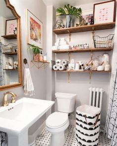 Small bathroom organization Ideas that will add more spaces during relaxation Part 12