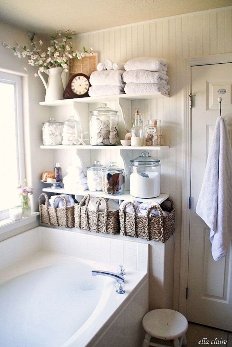 Small bathroom organization Ideas that will add more spaces during relaxation Part 14