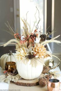 Thanksgiving Celebration Dining Table Centerpieces Idea Part 21