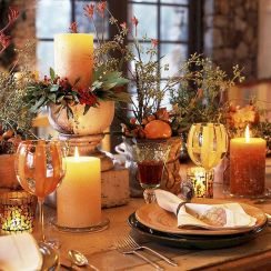 Thanksgiving Celebration Dining Table Centerpieces Idea Part 52