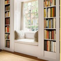 Bay Window seating with extra features Like Storage and Book Shelf Part 22