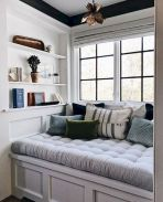 Bay Window seating with extra features Like Storage and Book Shelf Part 25