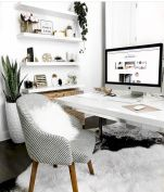 Cozy Home Office Ideas with White Desk Part 4