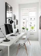 Cozy Home Office Ideas with White Desk Part 8