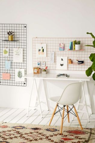 Home Office Designs with White Desk Concept Part 12