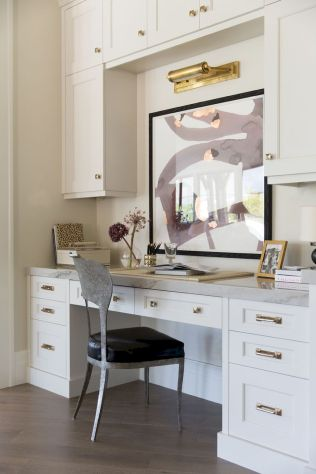 Home Office Designs with White Desk Concept Part 20