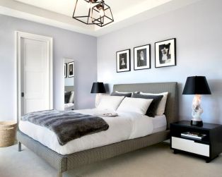 White Bedroom Decorating Ideas with Beautiful Accent Part 29