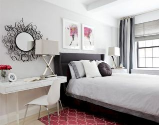 White Bedroom Decorating Ideas with Beautiful Accent Part 30