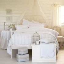 White Bedroom Decorating Ideas with Beautiful Accent Part 35