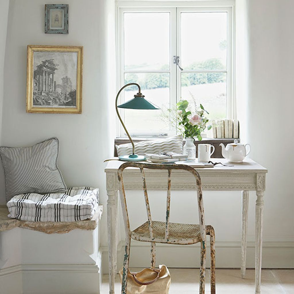 White Bedroom Decorating Ideas with Beautiful Accent Part 37