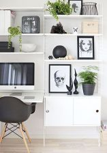 White Desk Ideas for Modern Home Office Design Part 33