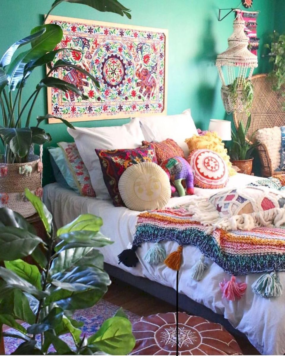 Beautiful Bed Sheet Designs With Tribal Pattern Liven Up Bedroom Looks Part 13