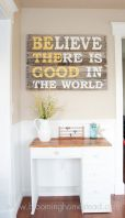 Cheap Wall Decor Made from Scrap Wood Pallets Part 3
