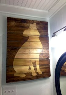 Cheap Wall Decor Made from Scrap Wood Pallets Part 6