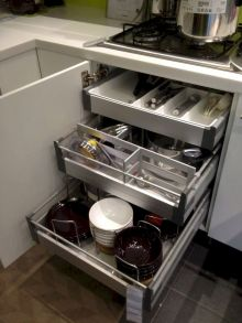 Inspiring Kitchen Organization and Storage Ideas to Make the Kitchen Looks Neater Part 19