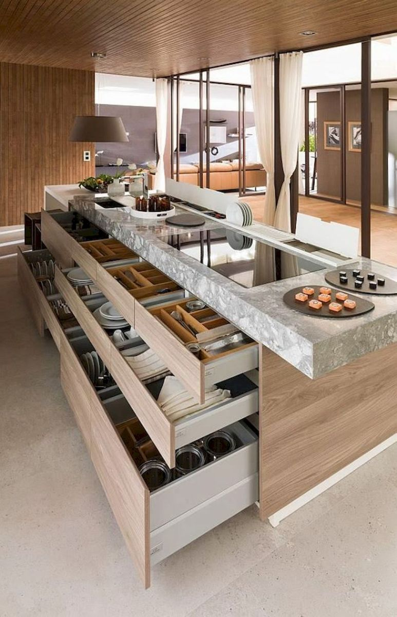 Inspiring Kitchen Organization and Storage Ideas to Make the Kitchen Looks Neater Part 34