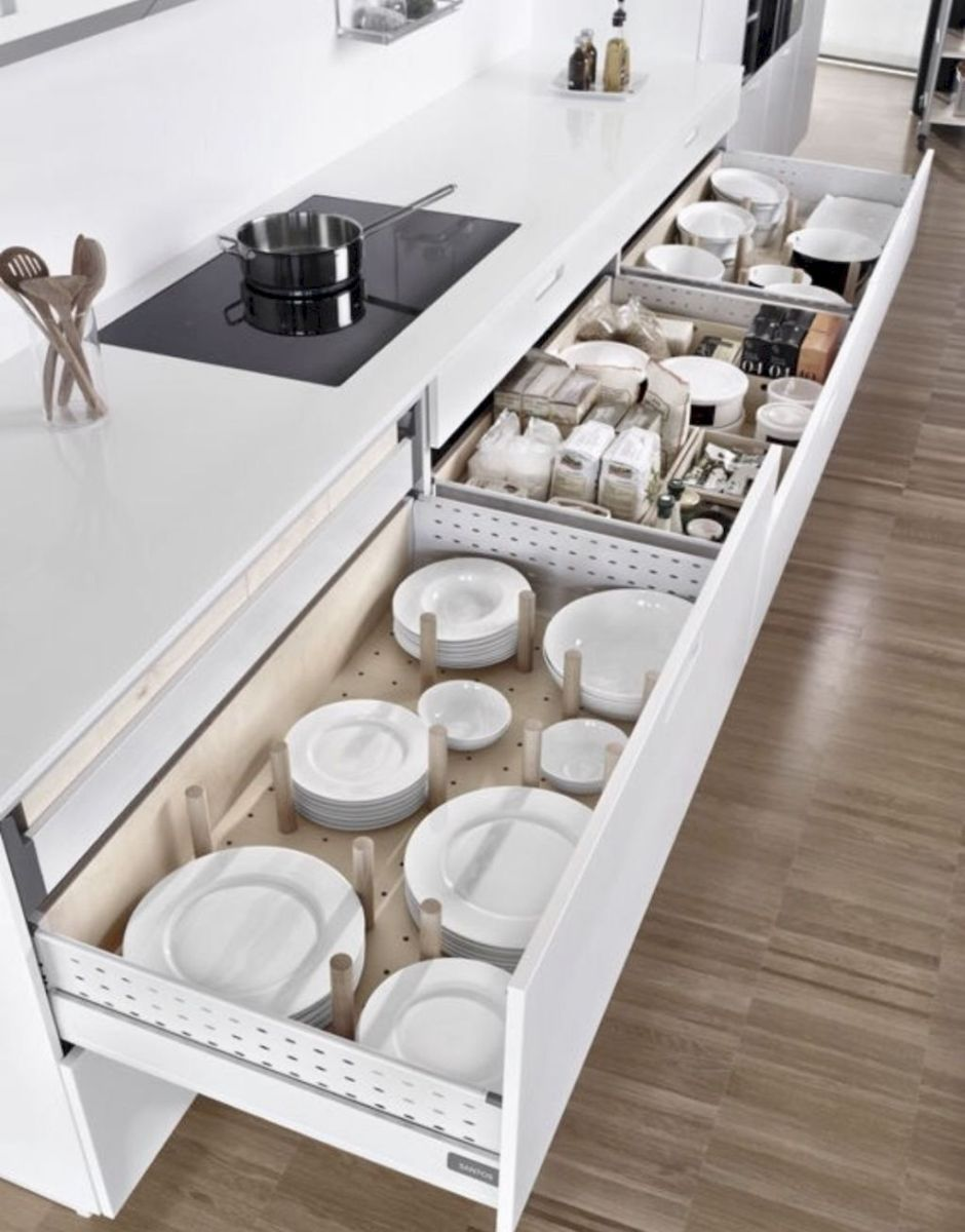 Inspiring Kitchen Organization and Storage Ideas to Make the Kitchen Looks Neater Part 40