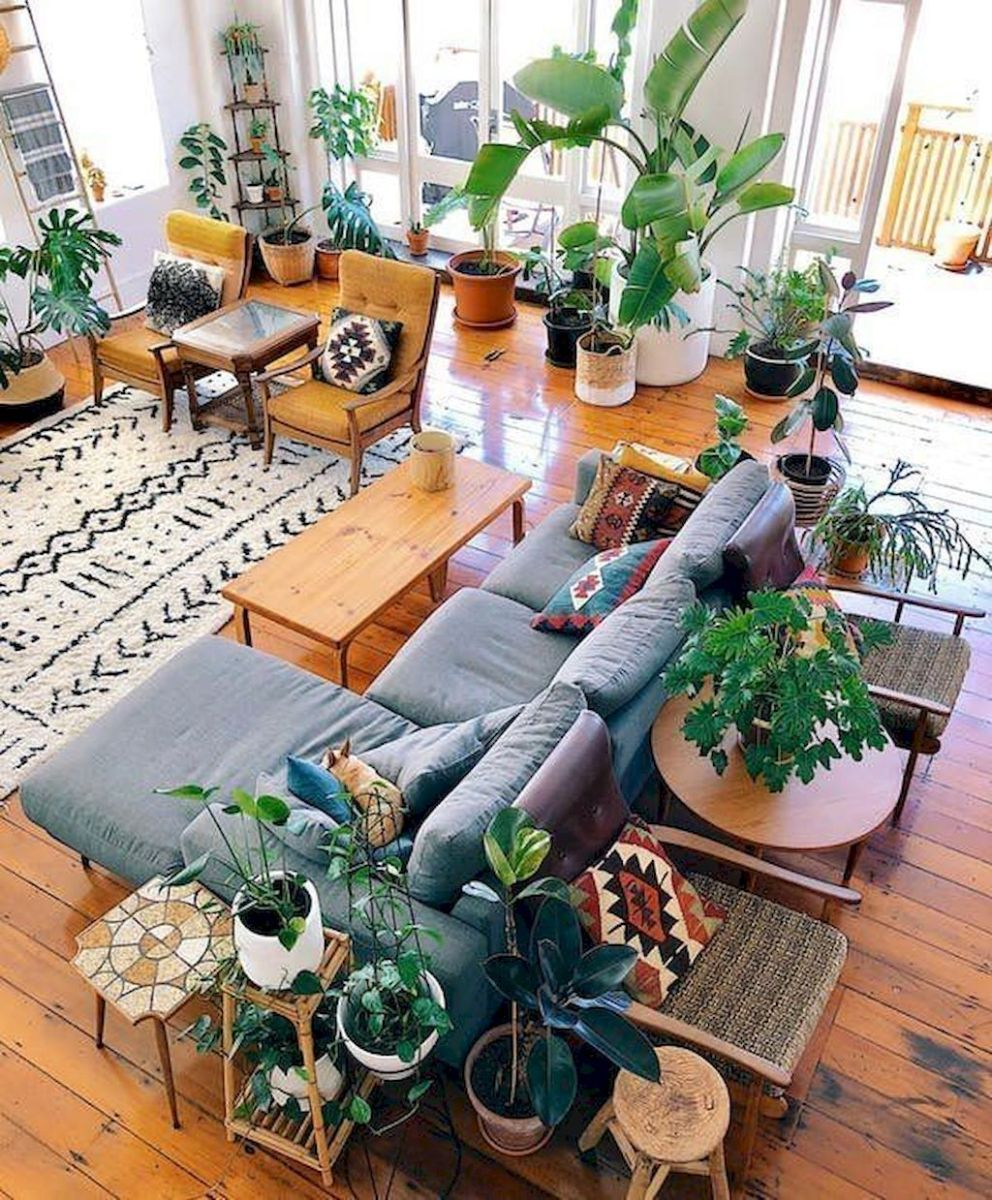 Lively Living Room Vibe with Indoor Plant Decoration Part 32