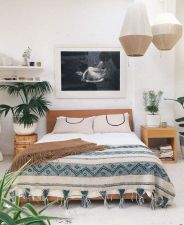 Relaxing Bedroom Feel with Natural Touch of Greenery Decorations Part 21