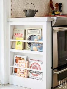 Small Kitchen Organization Ideas with Inspiring Hidden Storage Concept to Make Kitchen Look Neater Part 45