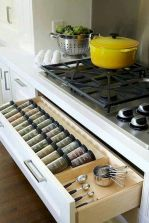 Small Kitchen Organization Ideas with Inspiring Hidden Storage Concept to Make Kitchen Look Neater Part 48