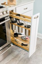 Small Kitchen Organization Ideas with Inspiring Hidden Storage Concept to Make Kitchen Look Neater Part 49