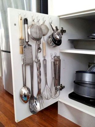 Small Kitchen Organization Ideas with Inspiring Hidden Storage Concept to Make Kitchen Look Neater Part 57