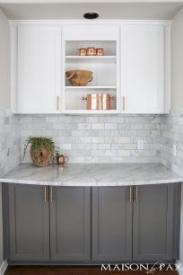 Stunning Kitchen Backsplash Ideas for Neutral Color Kitchen Designs Part 42