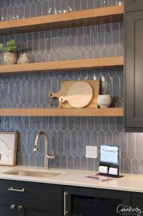 Stunning Kitchen Backsplash Ideas for Neutral Color Kitchen Designs Part 43