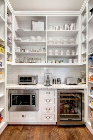 White Kitchen Pantry Organization in Practical Steps Part 44