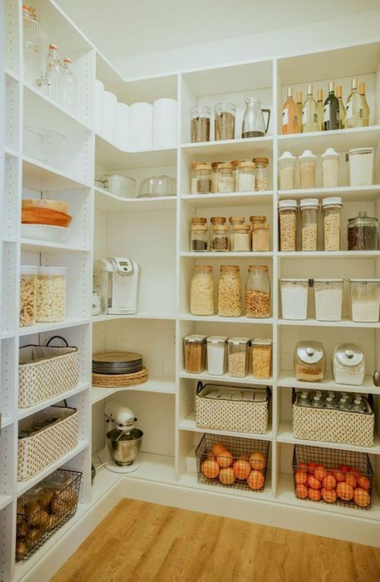 White Kitchen Pantry Organization in Practical Steps Part 47