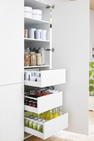 White Kitchen Pantry Organization in Practical Steps Part 51