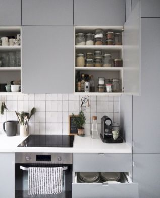 White Kitchen Pantry Organization in Practical Steps Part 53