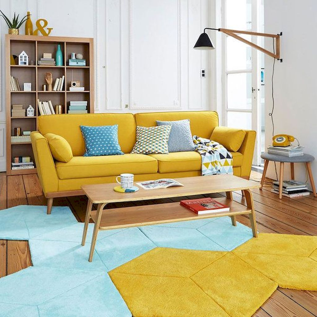Amazing Interior Ideas in Blue and Yellow Decorations Part 27