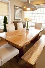Amazing ideas of liveedge dining tables with more inspiration to liven up the dining rooms friendly and refreshing vibes Part 15