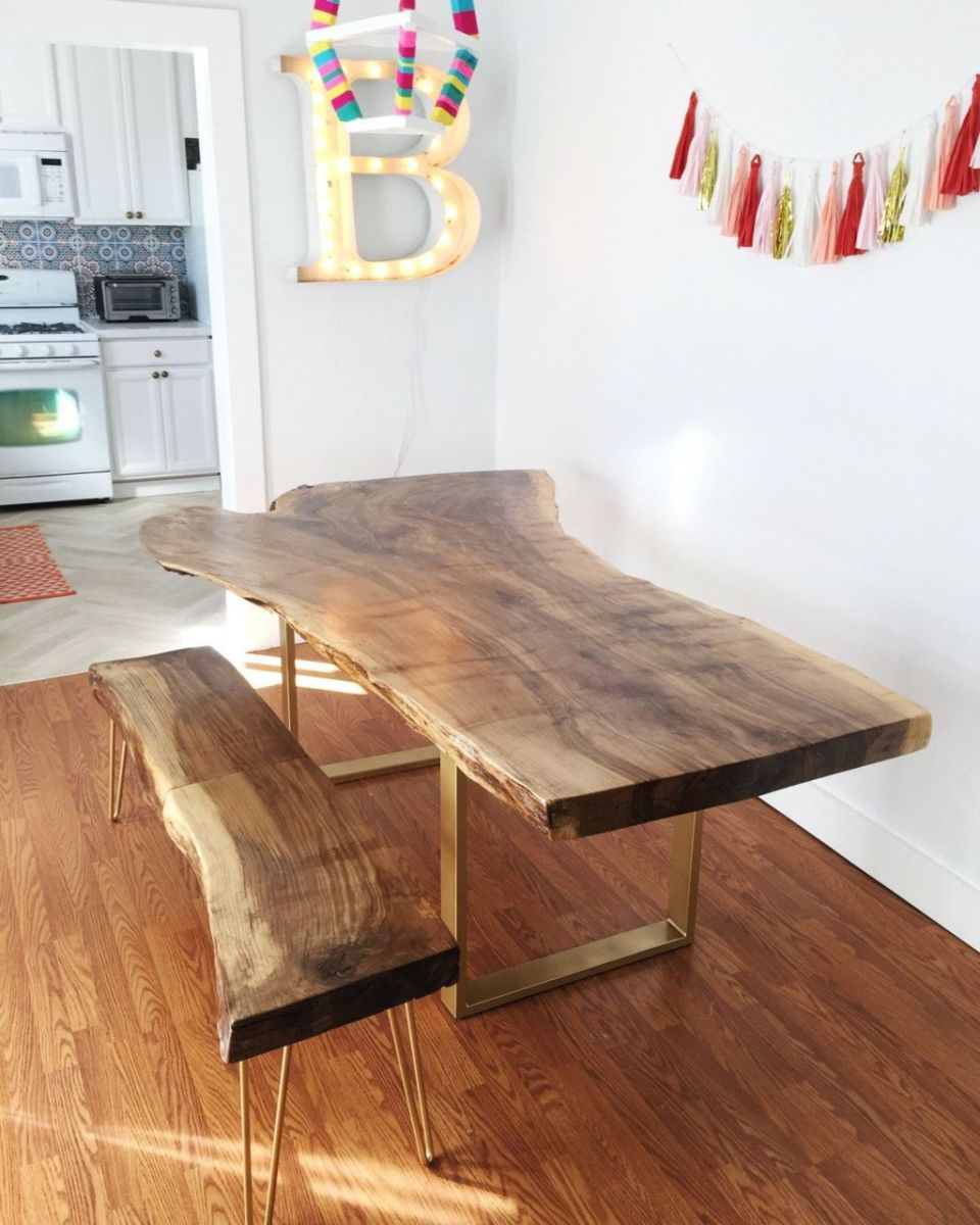 Amazing ideas of liveedge dining tables with more inspiration to liven up the dining rooms friendly and refreshing vibes Part 24