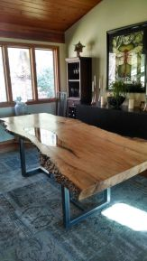Amazing ideas of liveedge dining tables with more inspiration to liven up the dining rooms friendly and refreshing vibes Part 6