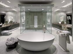 Artsy bathtub ideas for classy bathroom designs Part 36