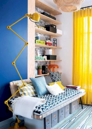 Best Blue Yellow Colors Mixing that Sparks Cheerful Interior Mood Part 10