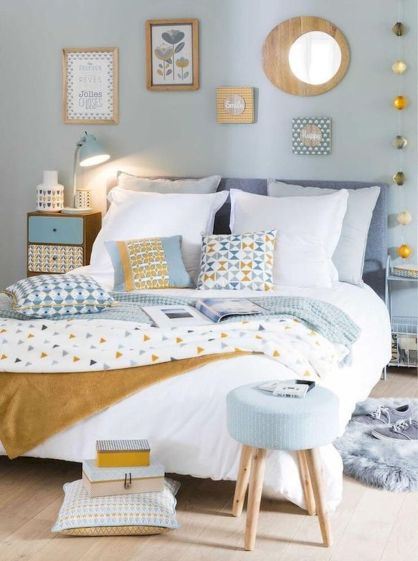 Best Blue Yellow Colors Mixing that Sparks Cheerful Interior Mood Part 14