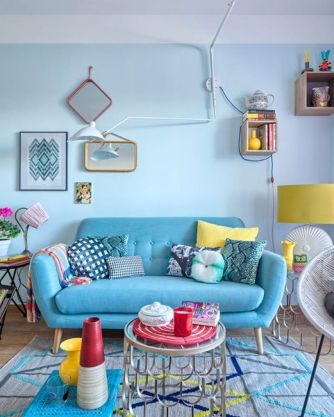 Best Blue Yellow Colors Mixing that Sparks Cheerful Interior Mood Part 9