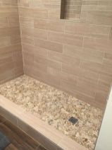 Best bathroom pebble floor designs that add natural bathroom look Part 13