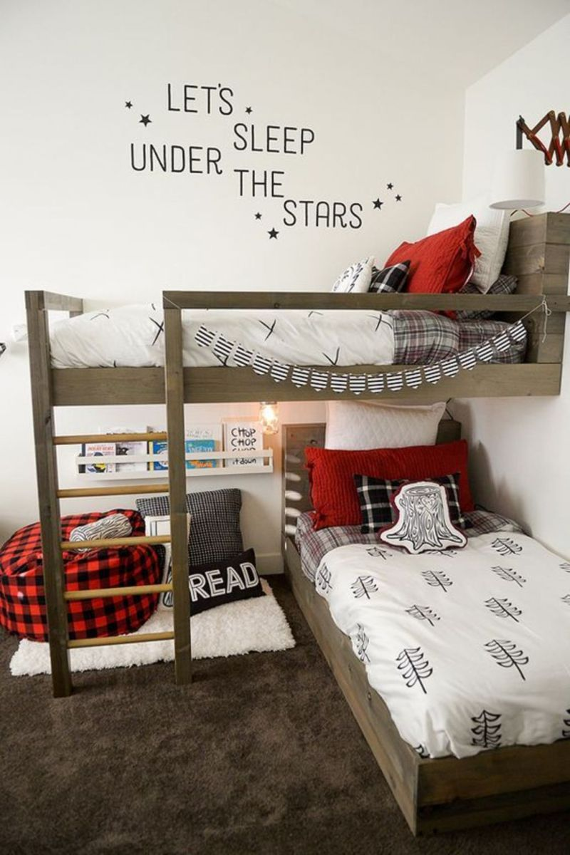 Cool bunk beds design ideas for boys that wonderful as solution for making the most out of a shared space Part 1